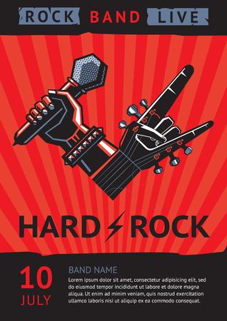 Illustration pour rock concert poster - image libre de droit