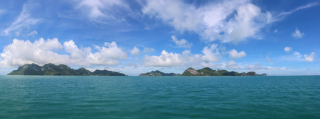 Photo for Panorama views of tropical islands against the blue sky at Ang Thong archipelago at Samui,  Thailand - Royalty Free Image
