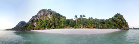 Photo for Panorama views of tropical islands and sand beach against the blue sky at Ang Thong archipelago at Samui,  Thailand - Royalty Free Image