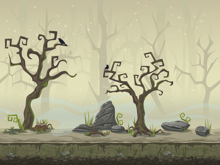 Illustration pour seamless background for a computer game location swamp - image libre de droit
