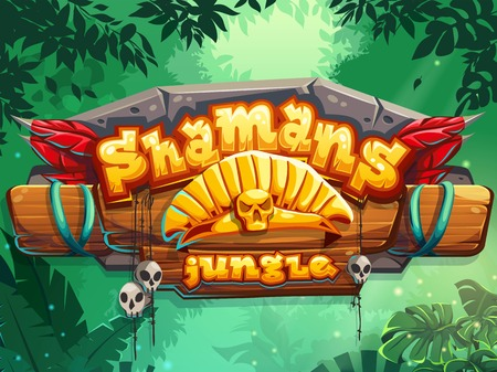 Illustration for Jungle shamans start page cute illustration - Royalty Free Image