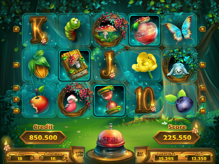 Illustration pour Playing field slots game for user interface - image libre de droit