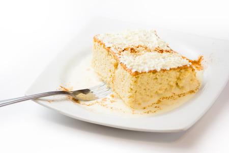 Photo for Three milk cake, Traditional dessert of Latin America - Royalty Free Image