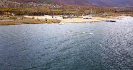 Photo pour summer on Lake Prespa in Macedonia - image libre de droit