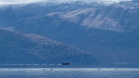Photo pour lake prespa macedonia - image libre de droit