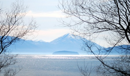 Photo pour island golem grad in a lake prespa in north macedonia, image - image libre de droit