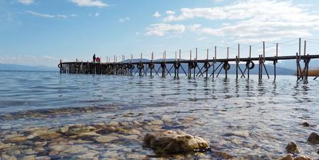 Photo pour lake prespa in macedonia, image of a - image libre de droit