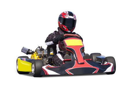 Photo for Isolated Adult Go Kart Racer - Royalty Free Image