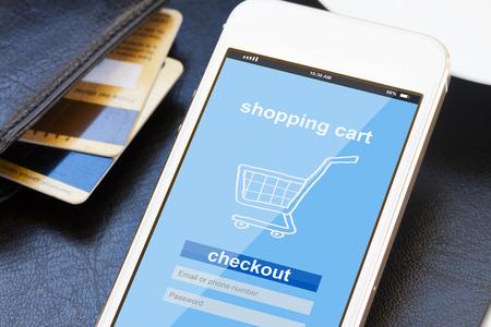 Foto de mobile shopping concept - Imagen libre de derechos