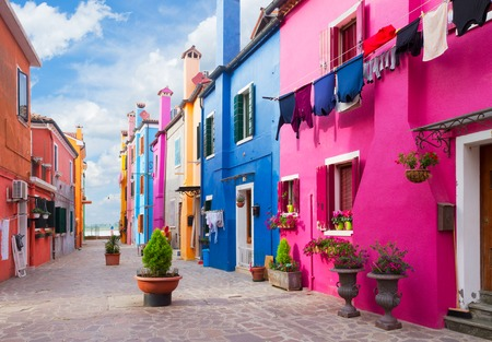 Photo for multicolored houses of Burano island, Venice, Italy - Royalty Free Image