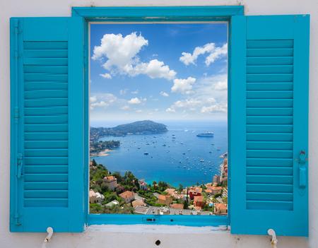 Foto de provence window with view of  cote dAzur, France - Imagen libre de derechos