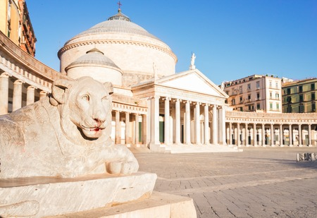 Photo for Close up details of Piazza del Plebiscito, Naples Italy - Royalty Free Image