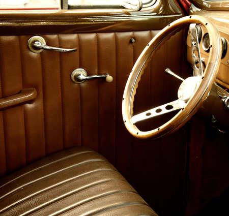 Photo pour Vintage car interior. - image libre de droit