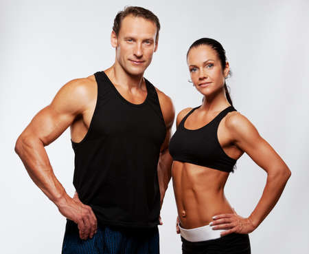 Photo for Beautiful athletic couple. - Royalty Free Image