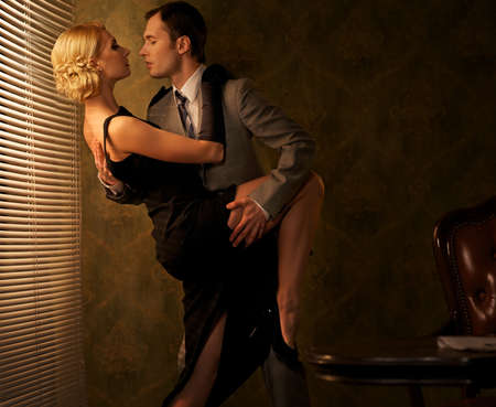 Photo for Retro couple dancing. - Royalty Free Image