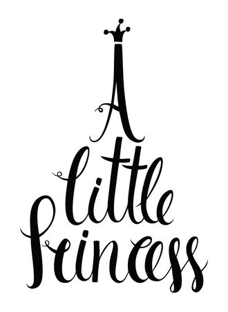 A little princess lettering Isolated brush calligraphic inscription mural