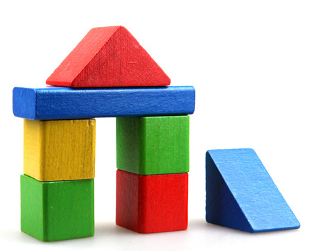Photo for Wooden building blocks - Royalty Free Image
