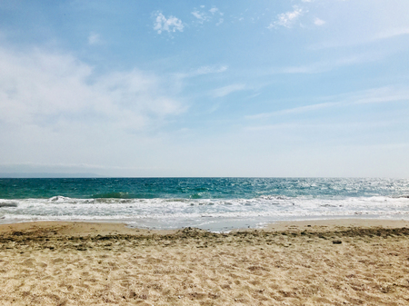 Photo for Beach and sea in bright sunlight - Royalty Free Image