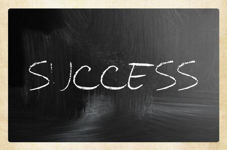 Foto de Text SUCCESS on blackboard - Imagen libre de derechos