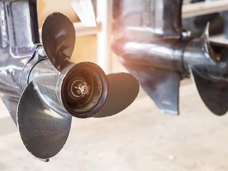 Foto de Boat engine propeller. - Imagen libre de derechos