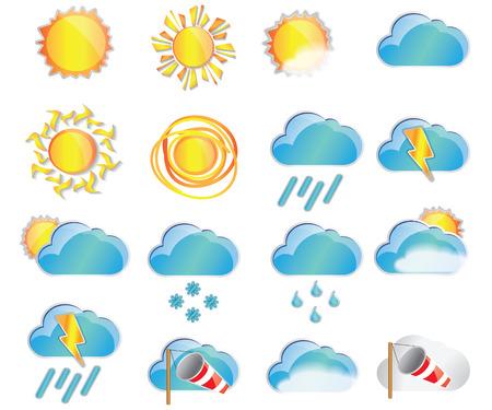 Illustration pour Weather set. Weather Icon Vector. Weather Icon Art. Weather Icon Picture.Weather Icon Image. Weather Icon logo. Weather Icon Flat. Weather Icon design. Weather icon app. Weather vector design. - image libre de droit