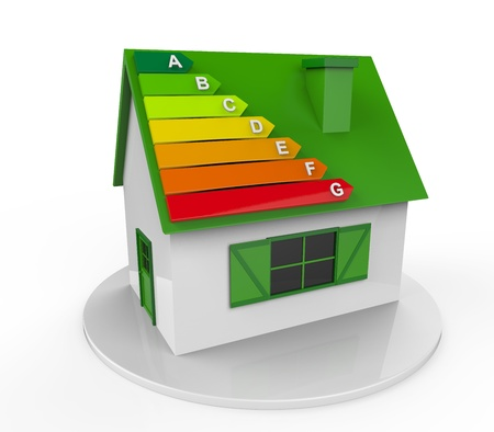 Photo for House with Energy Efficiency Levels - Royalty Free Image