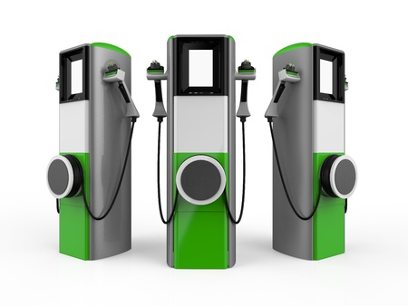 Photo for Electric Vehicle Charging Station - Royalty Free Image