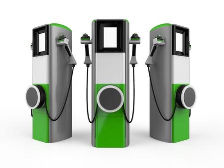 Photo pour Electric Vehicle Charging Station - image libre de droit