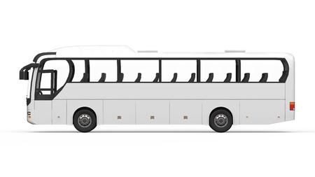 Foto per Big White Tour Bus - Immagine Royalty Free