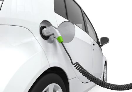 Photo pour Electric Car in Charging Station - image libre de droit
