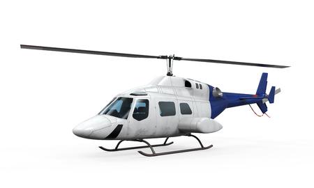 Foto de Blue Helicopter Isolated - Imagen libre de derechos
