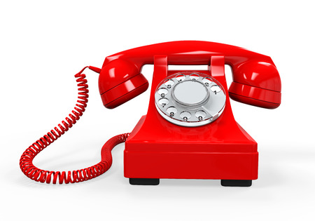 Photo pour Vintage Telephone Isolated - image libre de droit