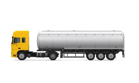 Photo pour Yellow Fuel Tanker Truck - image libre de droit
