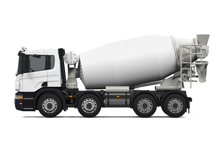 Photo for Concrete Mixer Truck - Royalty Free Image