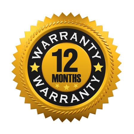 12 Months Warranty Sign