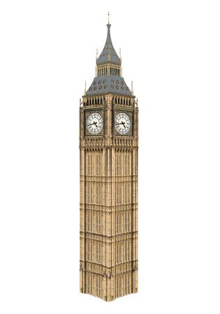 Foto de Big Ben Isolated - Imagen libre de derechos
