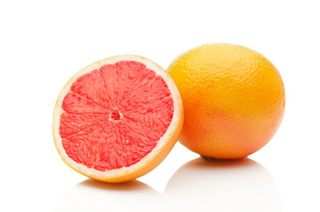 Photo for Grapefruit on white background - Royalty Free Image