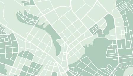 Illustration pour Editable vector street map of town. Vector illustration. - image libre de droit