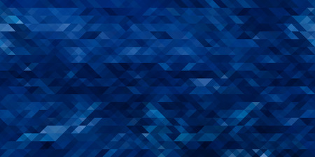 Photo pour Horizontal abstract blue triangle geometrical seamless background. Vector illustration - image libre de droit
