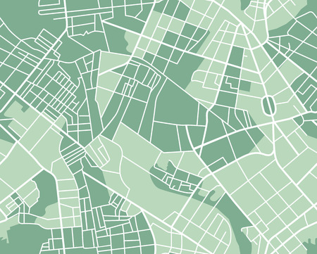 Illustration pour Editable vector street map of town as seamless pattern. Vector illustration. - image libre de droit