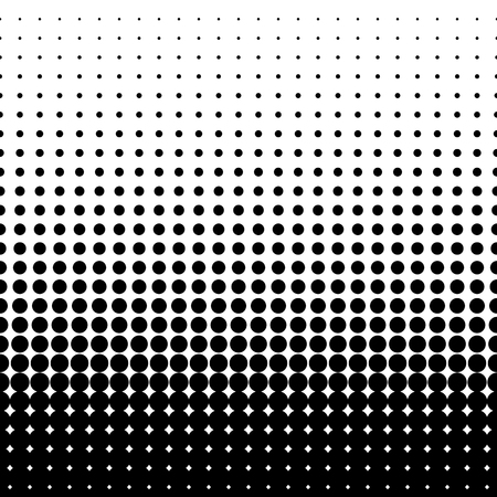 Illustration pour halftone dots. Black dots on white background. vector illustration - image libre de droit