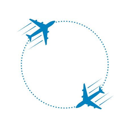 Ilustración de plane and path - Imagen libre de derechos