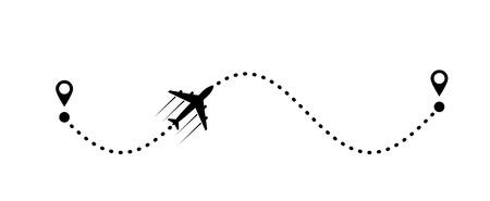 Ilustración de plane and its track - Imagen libre de derechos