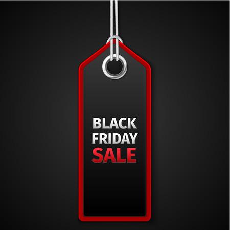 Ilustración de Black Friday sales tag. EPS 10 vector - Imagen libre de derechos