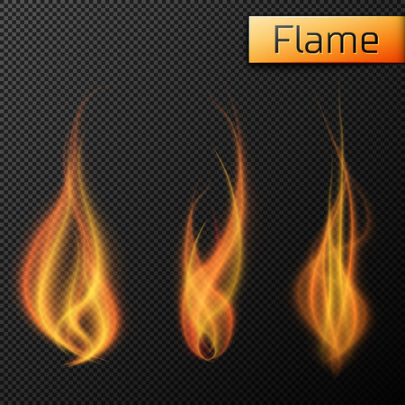 Illustration for Fire flames vectors on transparent background. Vector illustration, EPS 10 - Royalty Free Image
