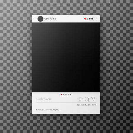 Illustration pour Social network photo frame template - image libre de droit