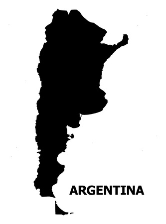 Illustration pour Vector Map of Argentina with name. Map of Argentina is isolated on a white background. Simple flat geographic map. - image libre de droit