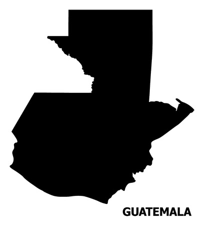 Illustration pour Vector Map of Guatemala with title. Map of Guatemala is isolated on a white background. Simple flat geographic map. - image libre de droit