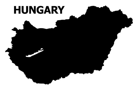 Illustration pour Vector Map of Hungary with name. Map of Hungary is isolated on a white background. Simple flat geographic map. - image libre de droit