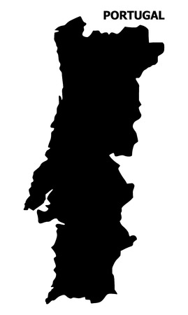 Illustration pour Vector Map of Portugal with name. Map of Portugal is isolated on a white background. Simple flat geographic map. - image libre de droit